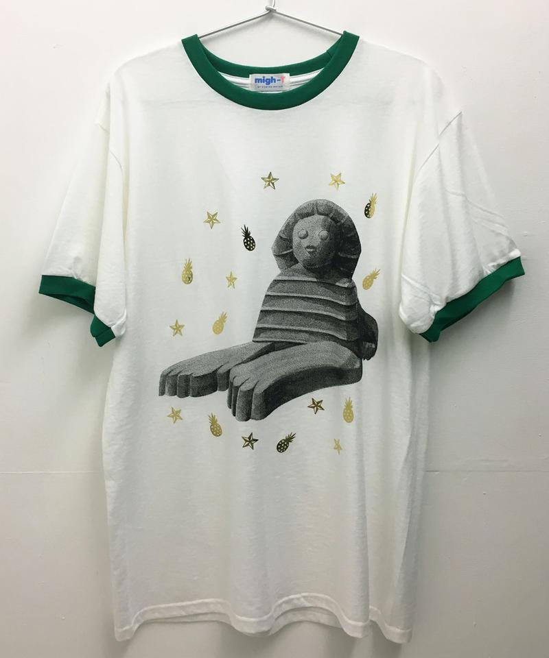 スフィンクスリンガーTシャツ (white-green)