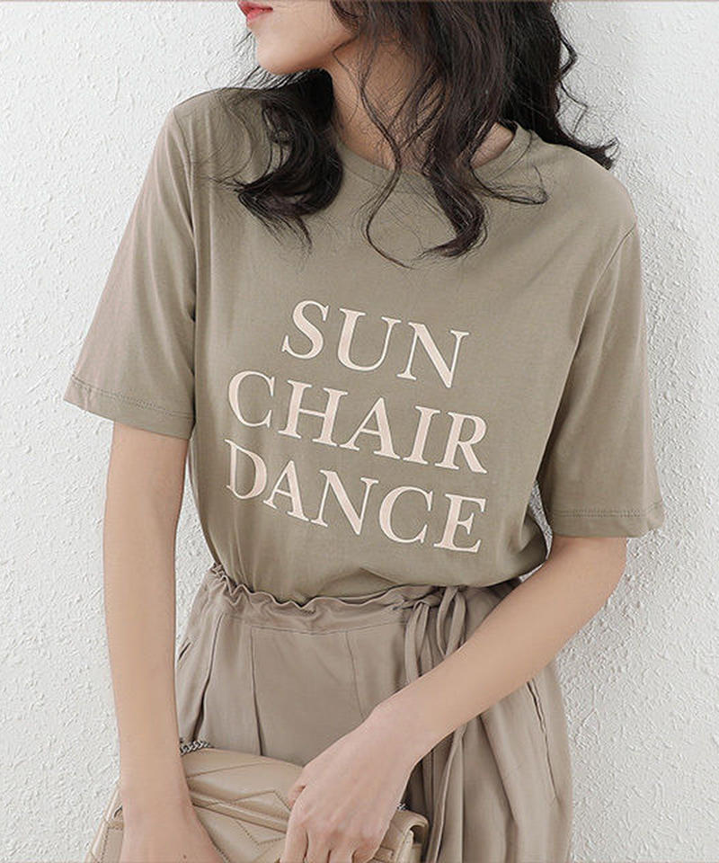 5月中旬~5月下旬入荷分 予約販売 nh-tops-02063 ニュアンスカラー メッセージTシャツ