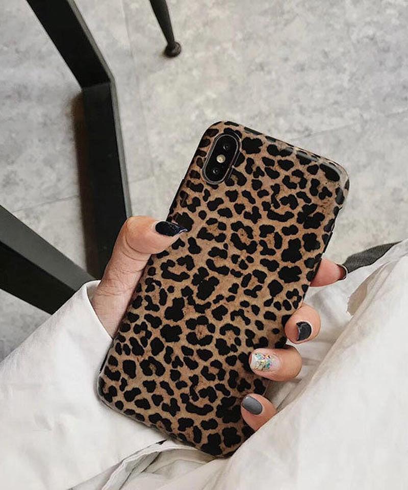 mb-iphone-02510 レオパード柄 ヒョウ柄 デザイン iPhoneケース