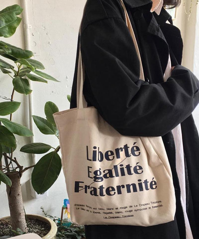 mb-bag2-02275 Liberte Egalite Fraternite Tote Bag トートバッグ エコバッグ