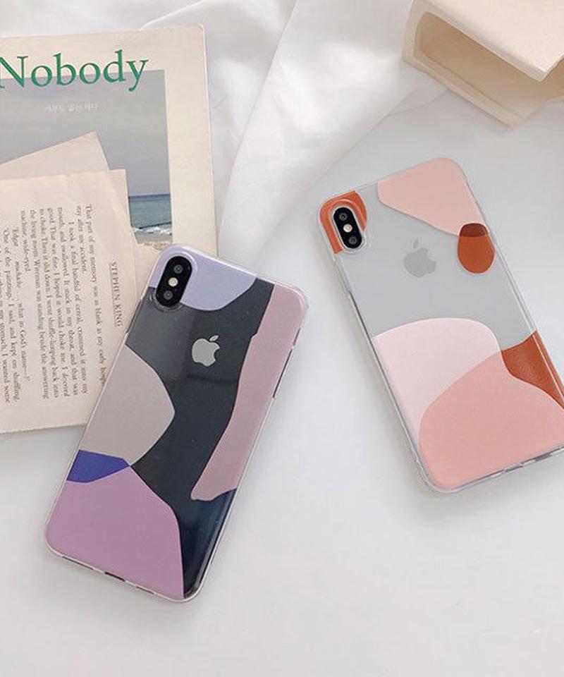 mb-iphone-02542 シンプル アート クリア iPhoneケース
