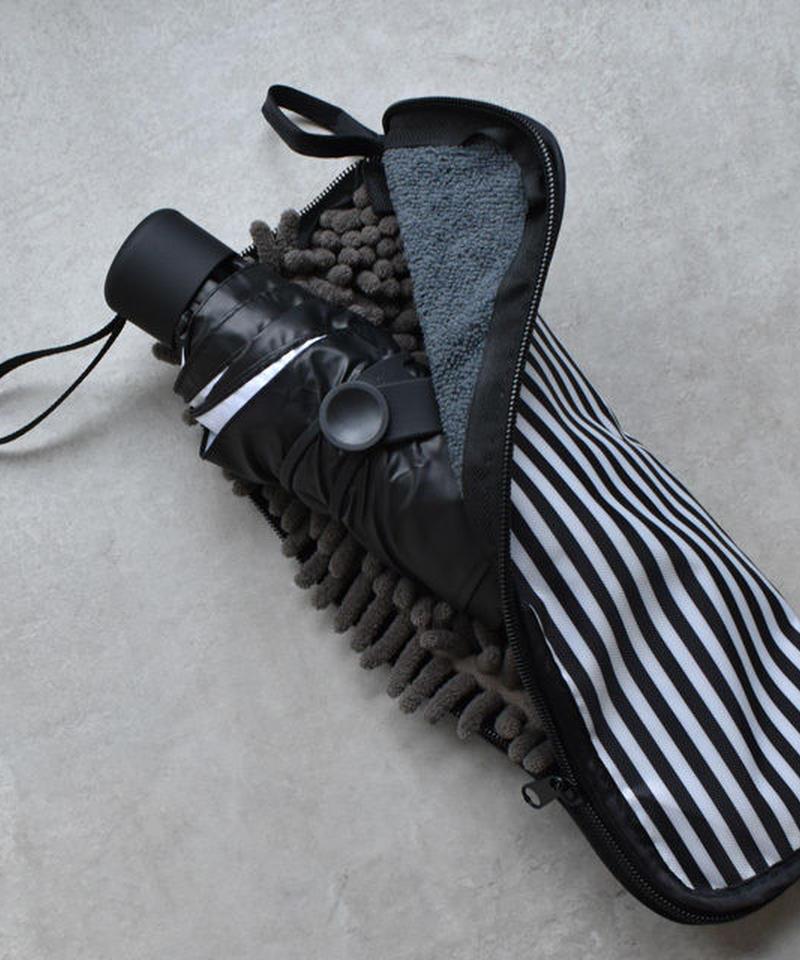mb-raingoods-02015 マイクロファイバー ストライプ柄 折り畳み傘ケース 吸水カバー