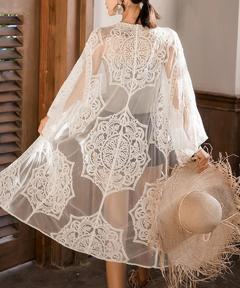 nh-gown-02010 ロングレースガウン  カバーアップ レディース