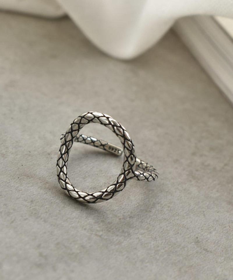 mb-ring2-02054 SV925 格子柄Oリング シルバー925