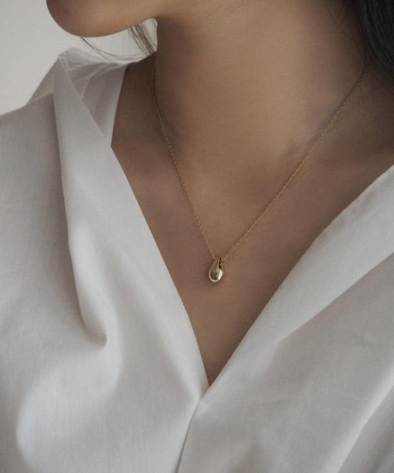 mb-necklace2-02002 SV925 ドロップトップ ネックレス ゴールド