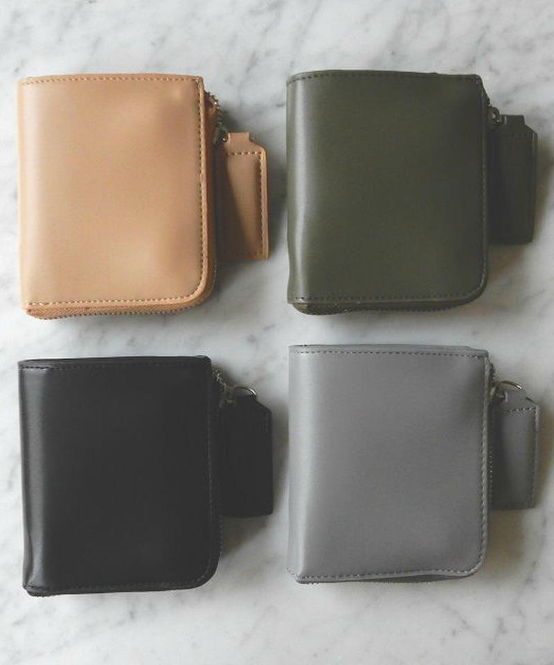 wallet-02011 ジップ式 ミニ財布 ミニ小銭入れ付き ミニウォレット