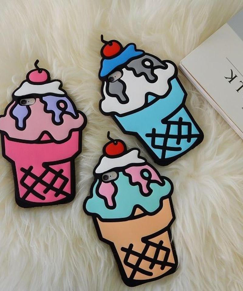 mb-iphone-02146 アイスクリームパフェ iPhoneケース