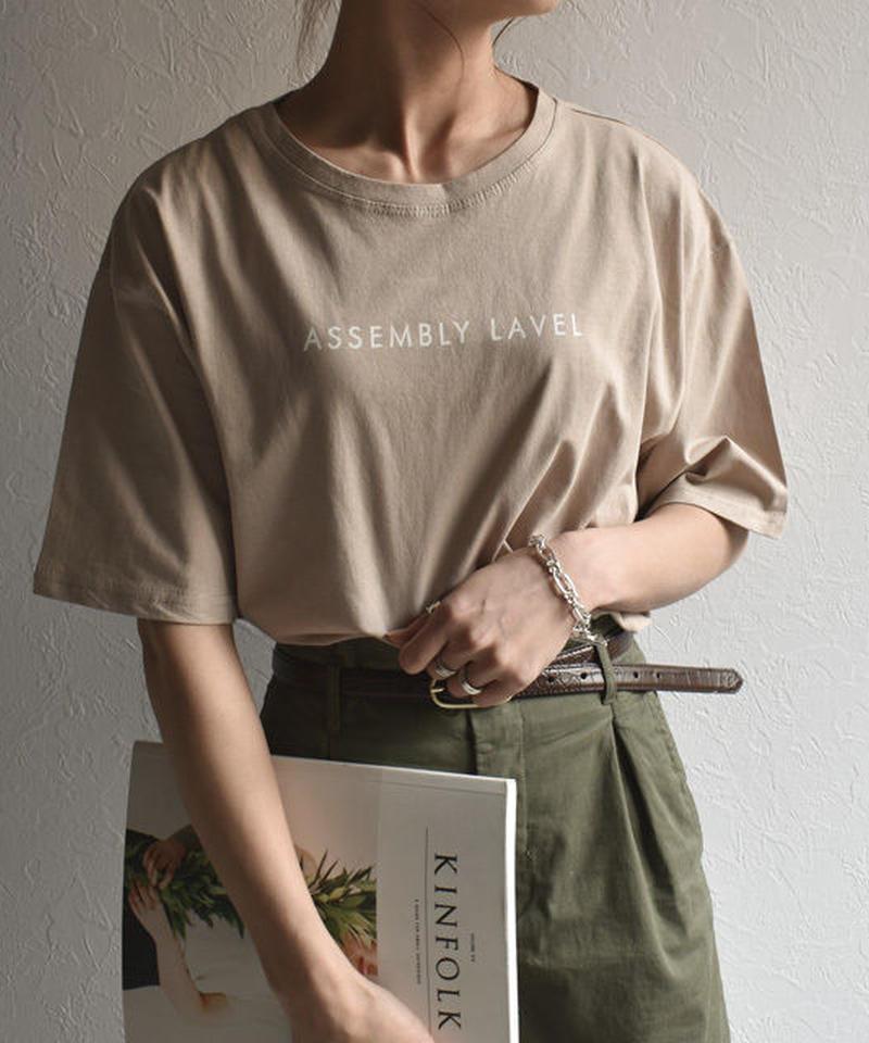 5月中旬から5月下旬入荷分 予約販売 tops-02051 ロゴデザイン Tシャツ ホワイト グレージュ ベージュ ライトカーキ