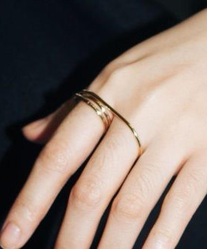 mb-ring-02049 ツーフィンガーリング 11号(3重になっている方)と14号