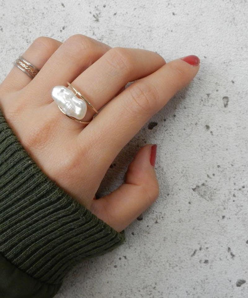 mb-ring2-02001 淡水パール Loquat型 オリジナルリング 12号 日本製 ハンドメイド ☆ WA04