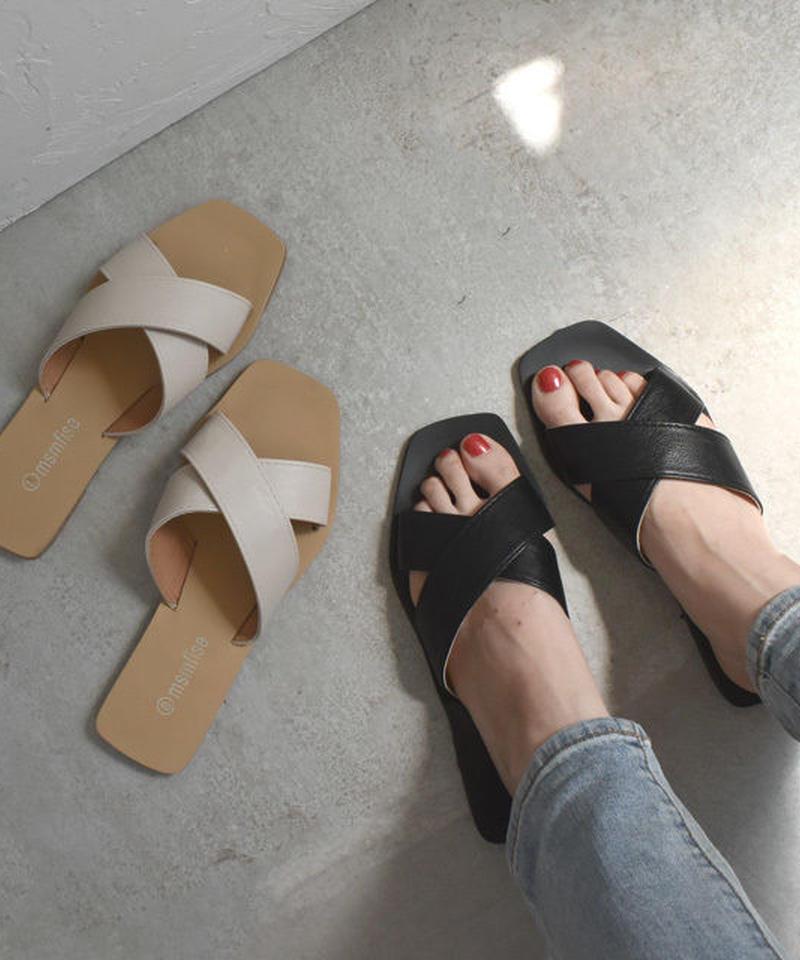 nh-shoes-02006   クロスベルト フラットサンダル