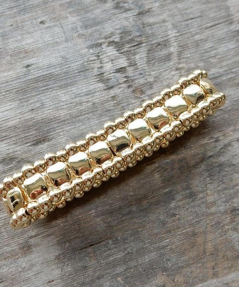mb-brace-02222 ゴールド プレートビーズ ブレスレット