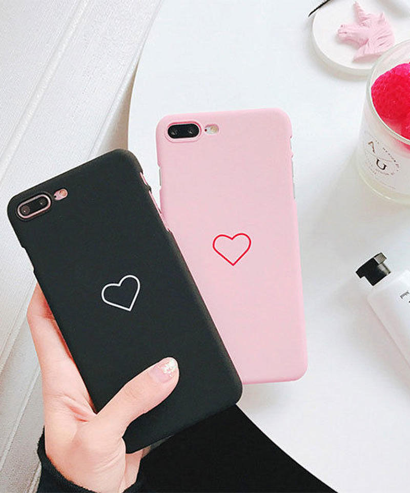 mb-iphone-02436 ワンポイント ハート iPhoneケース