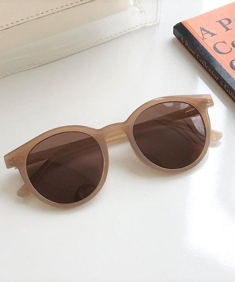 sunglasses-02040 ベージュフレーム サングラス 偏光レンズ