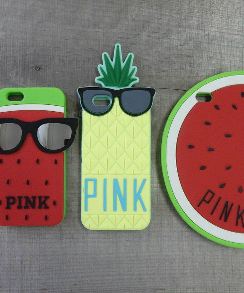mb-iphone-02071 PINK パイナップル・スイカ・サングラス  iPhoneケース