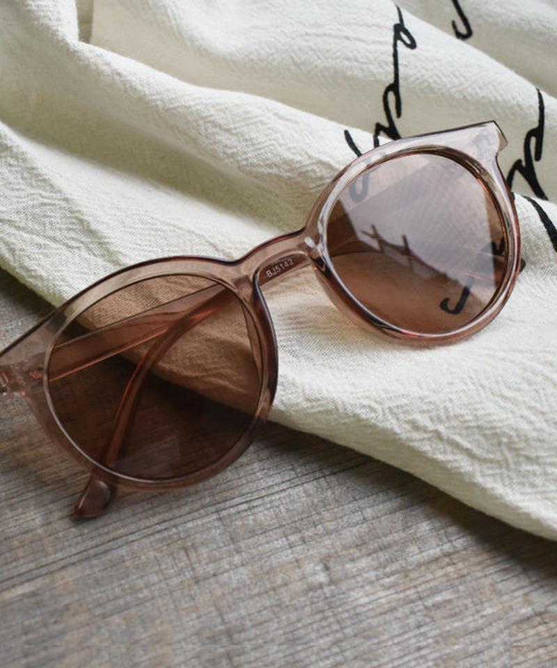 sunglasses-02033 ブラウンクリアフレーム サングラス