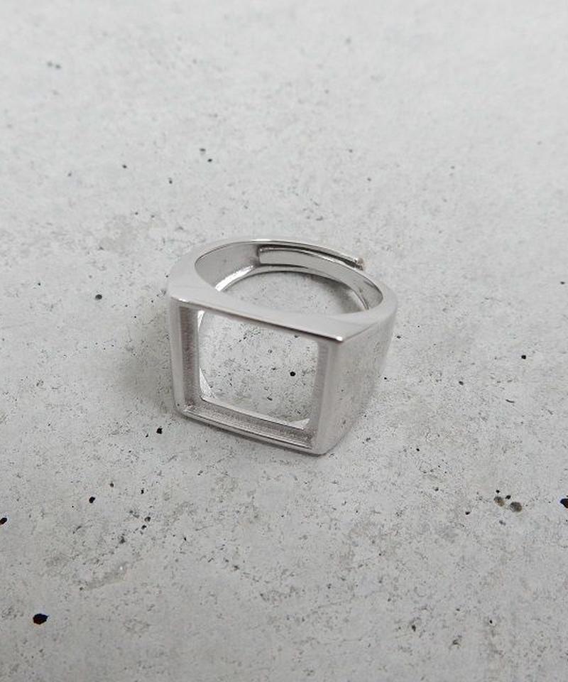 mb-ring-02149 SV925 スクエアカットアウトリング 11号から上にサイズ調整可能