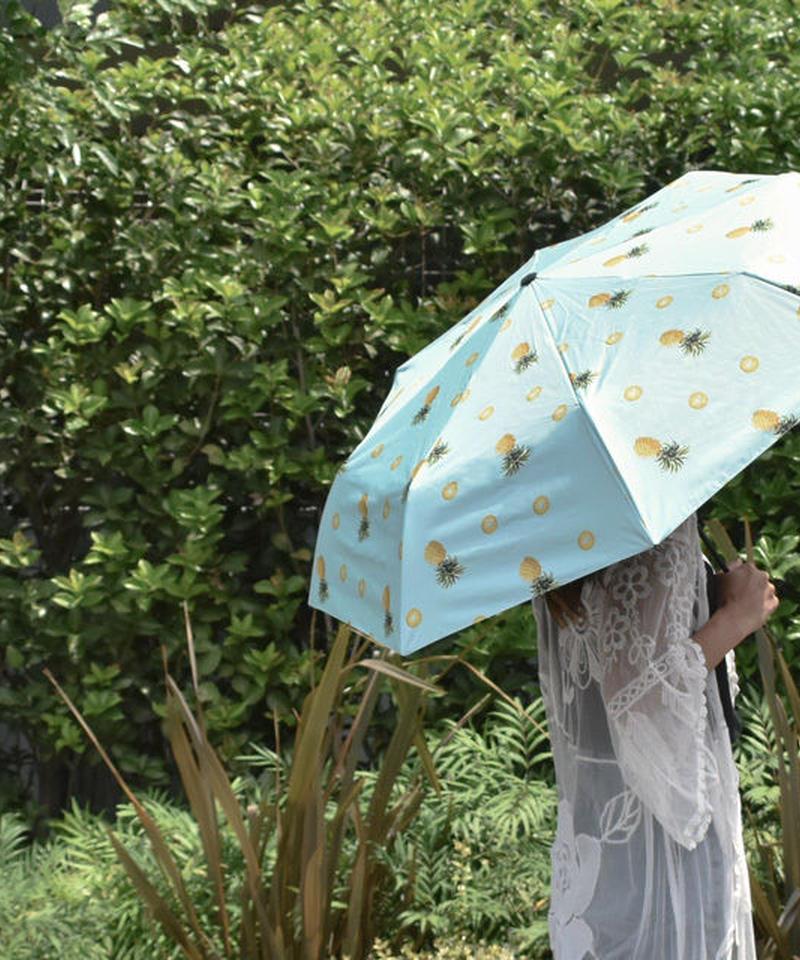 raingoods-02009 パイナップルデザイン 折りたたみ傘 日傘 雨傘 晴雨兼用
