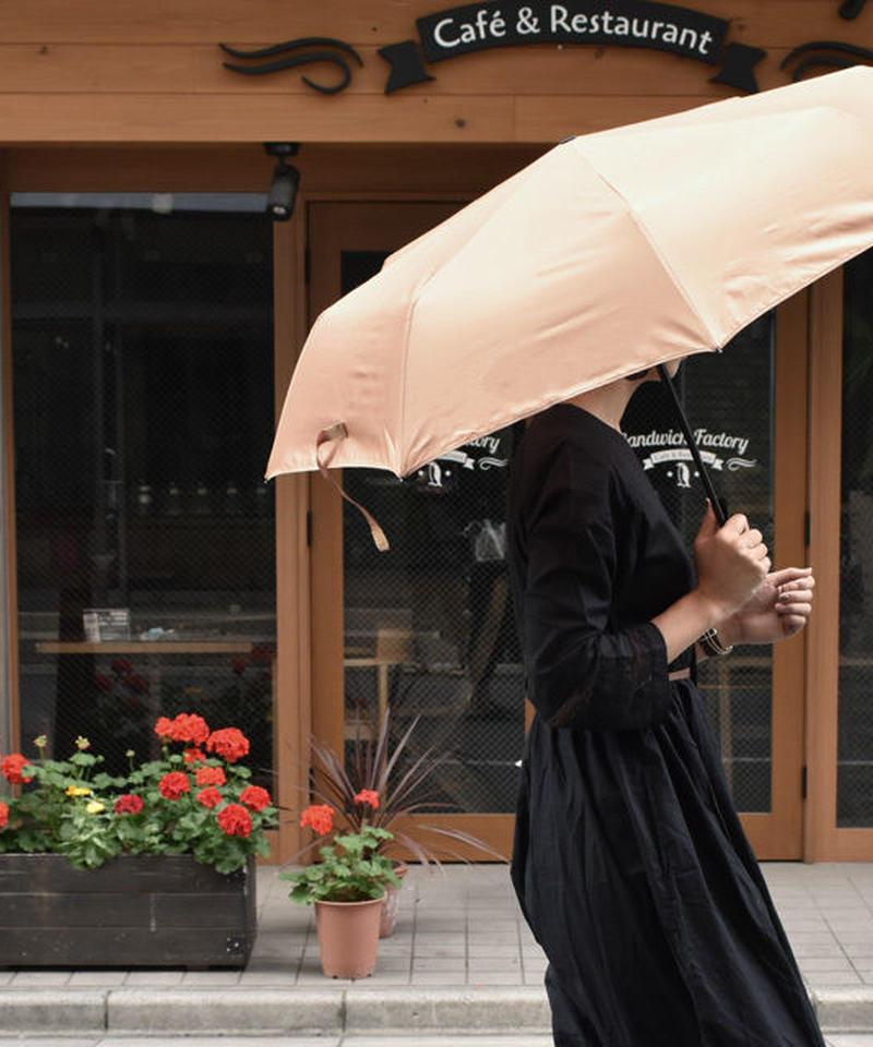 raingoods-02002 ジャンプ式折りたたみ傘 無地 雨傘 ベージュ ピンクブラウン ダークブラウン