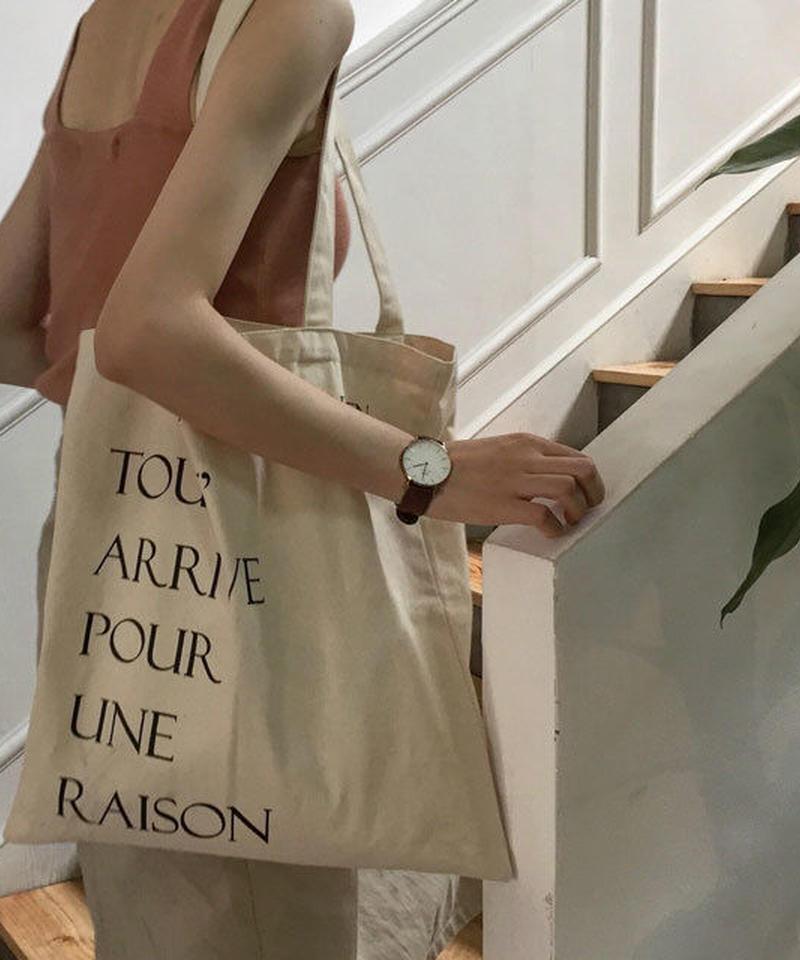 mb-bag2-02279 TOUT ARRIVE POUR UNE RAISON Tote Bag トートバッグ エコバッグ