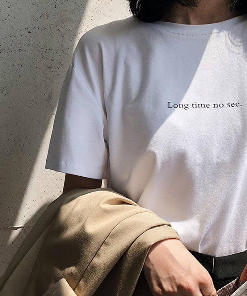tops-02019  ロゴデザイン Tシャツ ホワイト