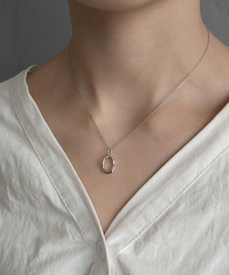 mb-necklace2-02004 SV925 ベンドオーバルトップ ネックレス シルバー