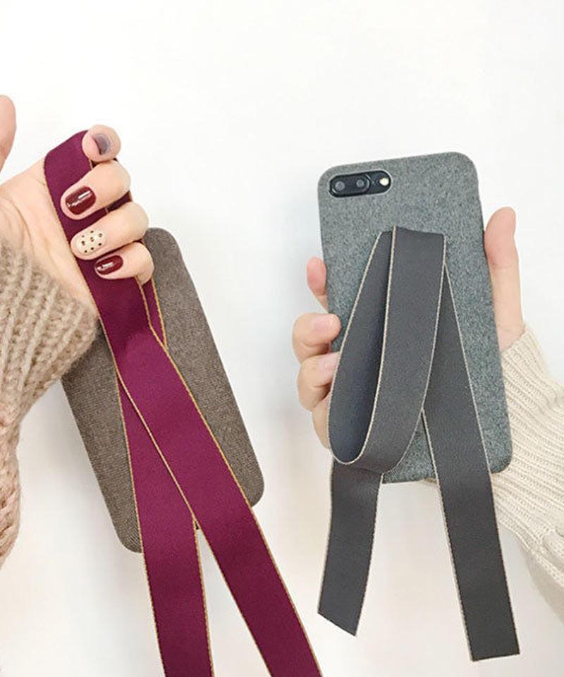 mb-iphone-02430 リボン付き 落下防止 iPhoneケース