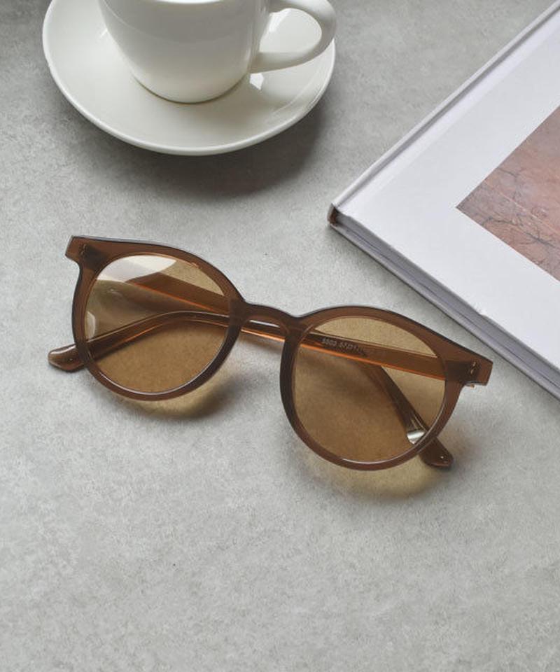 sunglasses-02039 ライトブラウン マットクリアフレームサングラス
