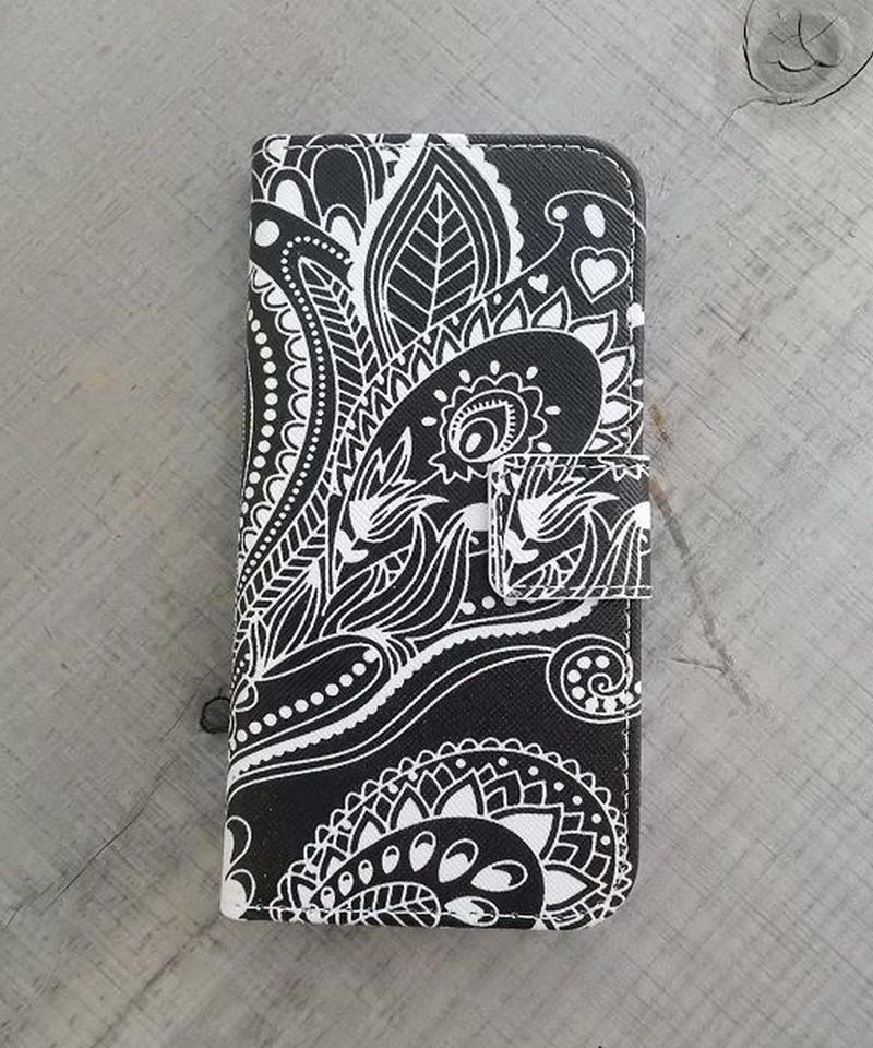 mb-iphone-02205 手帳型 ペイズリー柄 カード収納付き iPhoneケース iPhone6ケース