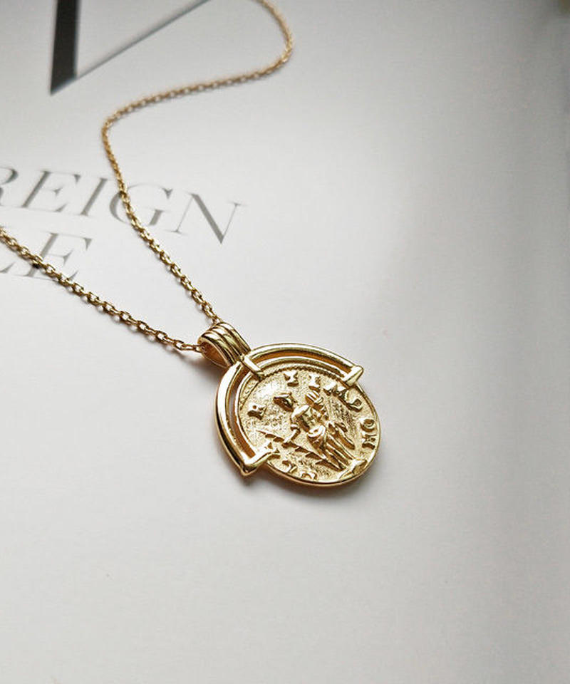 mb-necklace2-02010 SV925 タイプ3 コインチャームネックレス