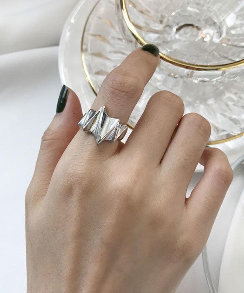 mb-ring2-02036 SV925 エンボスシャープデザインリング シルバー925