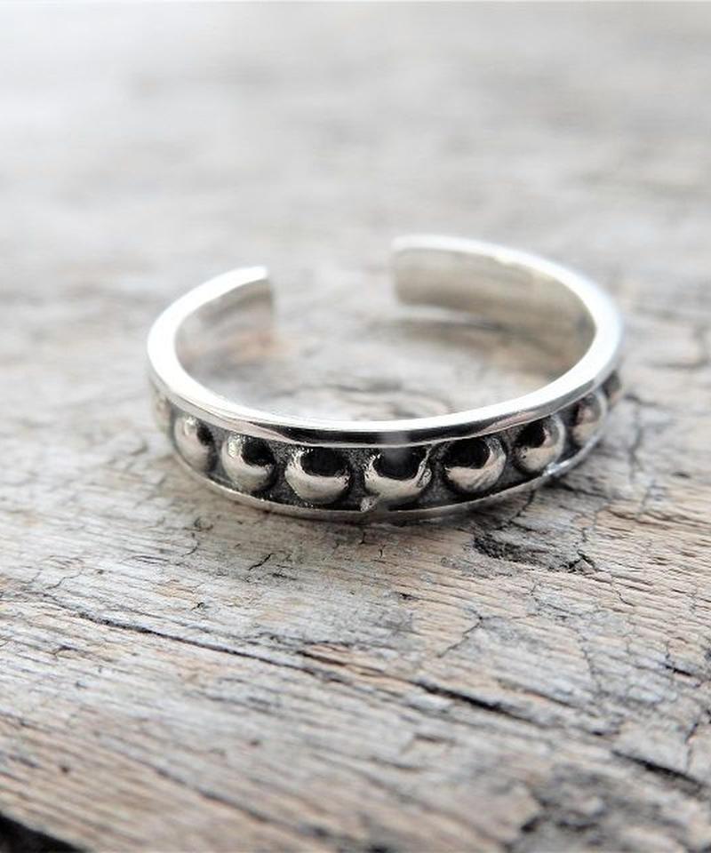 mb-ring-02150 SV925 ボールスタッズ シルバーリング 幅3,5mm 7号から上にサイズ調整可能