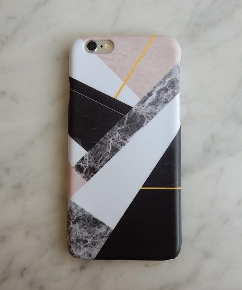 mb-iphone-02194 タイプ35 マルチミックス 大理石 マーブル柄 天然石柄 ストーン柄 iPhoneケース