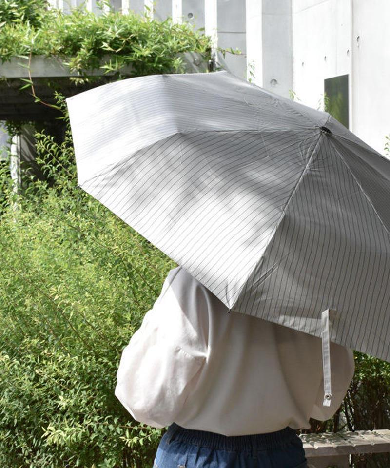 raingoods-02001 ピンストライプ 折りたたみ傘 日傘 雨傘 晴雨兼用