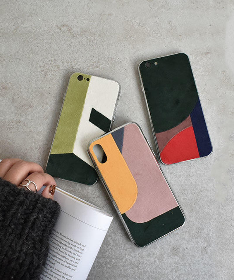 mb-iphone-02512 ベロア パッチワーク iPhoneケース