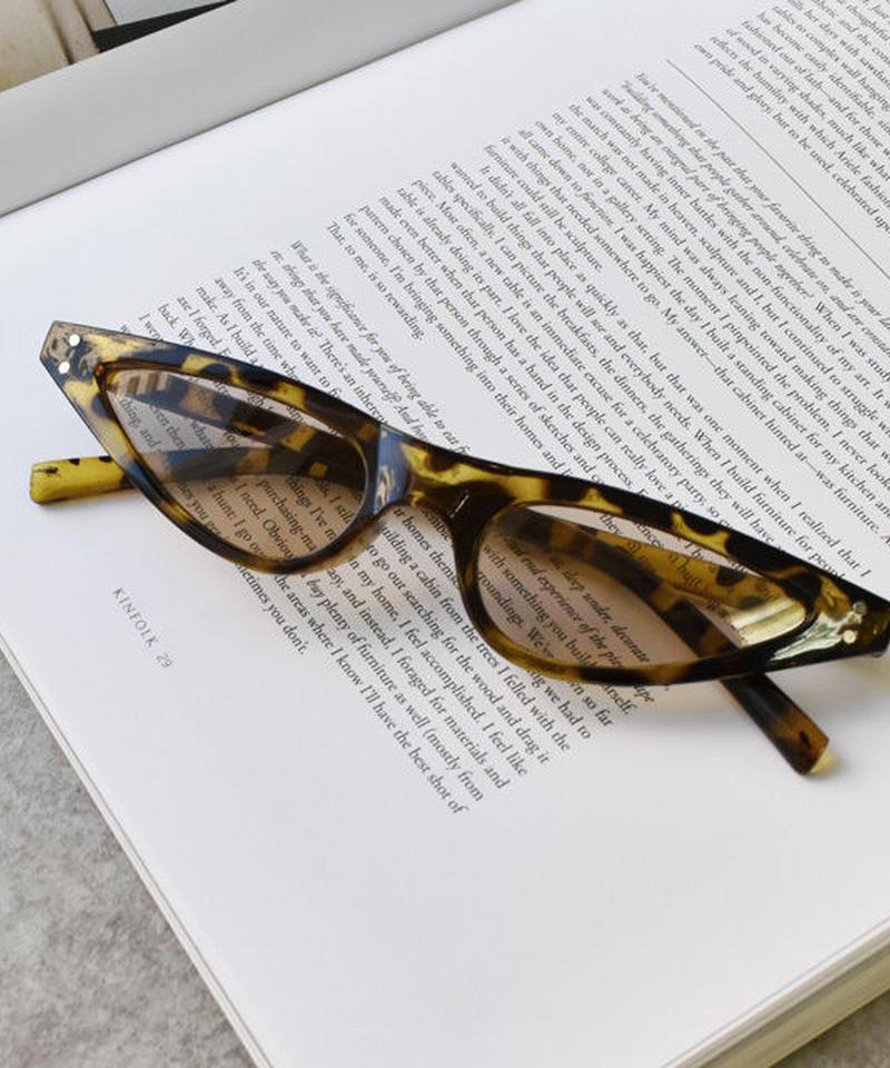 sunglasses-02035 べっ甲風フレーム 細サングラス