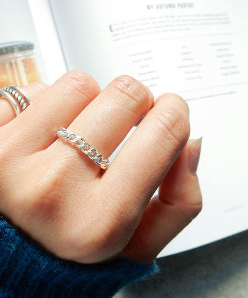 ring-02102 SV925 シルバーチェーンリング 3mm幅 8号・10号・12号 金属アレルギー対応素材 ☆ WA04
