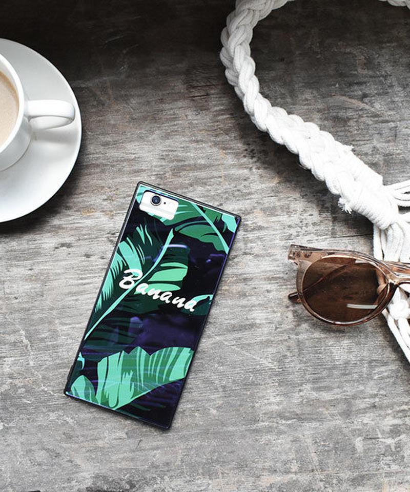 mb-iphone-02483 スクエアバンパー バナナリーフ iPhoneケース