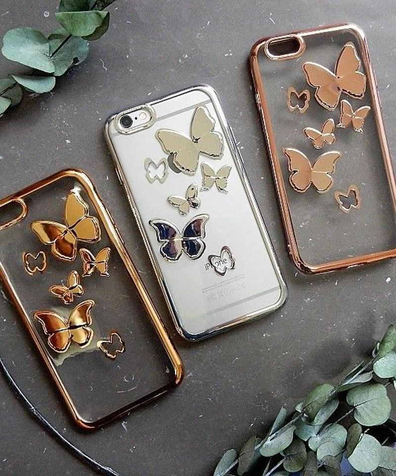 mb-iphone-02350 バタフライ 蝶 デザイン メタル iPhoneケース
