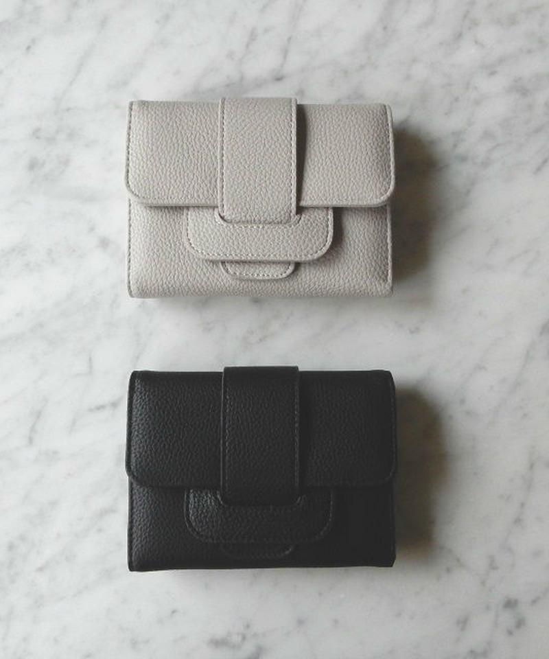 wallet-02013 タイプ2 ベルトデザイン ミニ財布 小銭入れ付き 三つ折り ミニウォレット