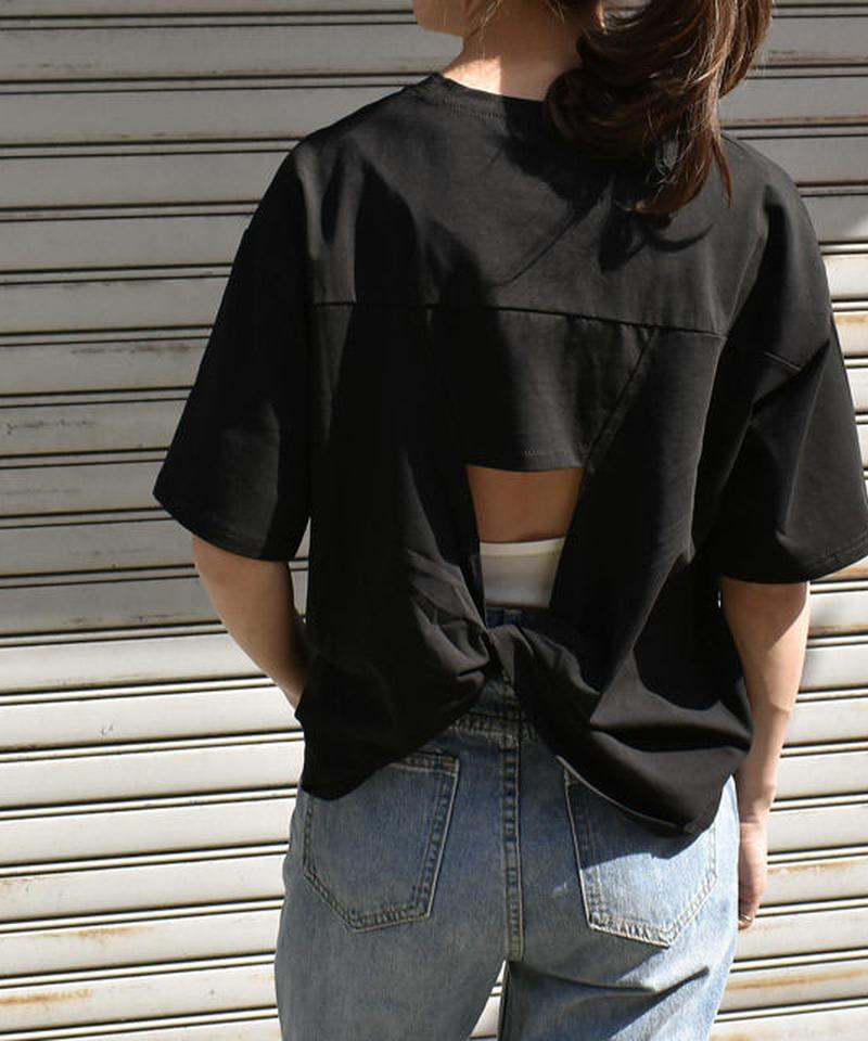 6月上旬~6月中旬入荷分 予約販売 nh-tops-02075 バッククロスTシャツ ホワイト ブラック
