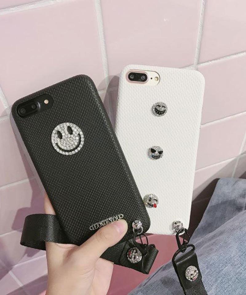 mb-iphone-02429 キラキラ ニコちゃん スマイル iPhoneケース