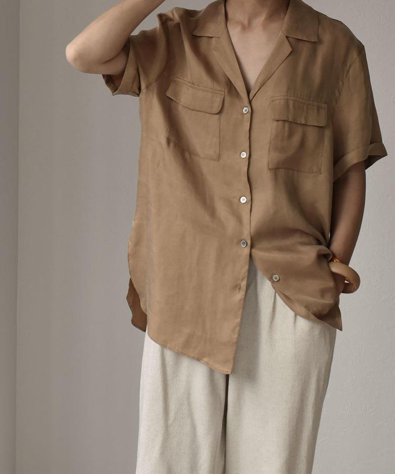 7月上旬~7月中旬入荷分 予約販売 nh-tops-02106 ヴィンテージポケット開襟シャツ