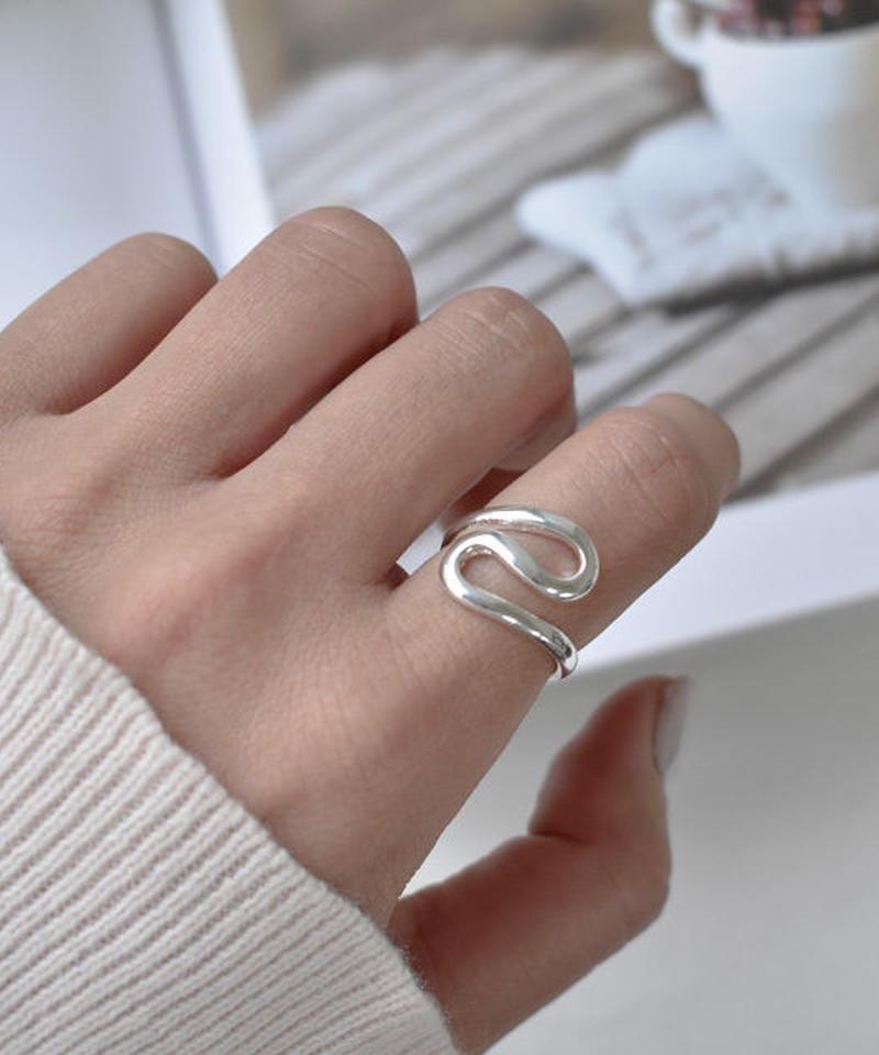 mb-ring2-02015 SV925コーティング リップルデザインリング