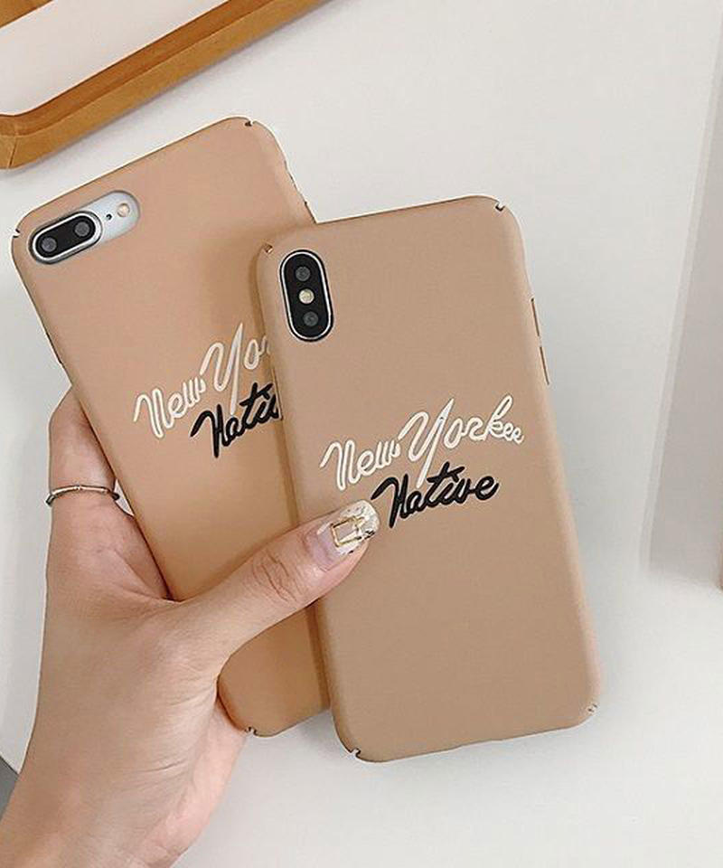 mb-iphone-02520 ベージュ new yorker native iPhoneケース
