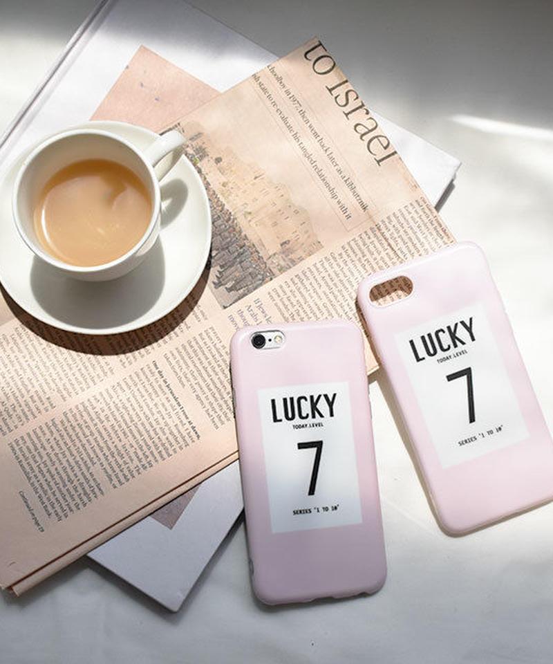 mb-iphone-02459 Lucky7 ピンク ソフトケース  iPhoneケース