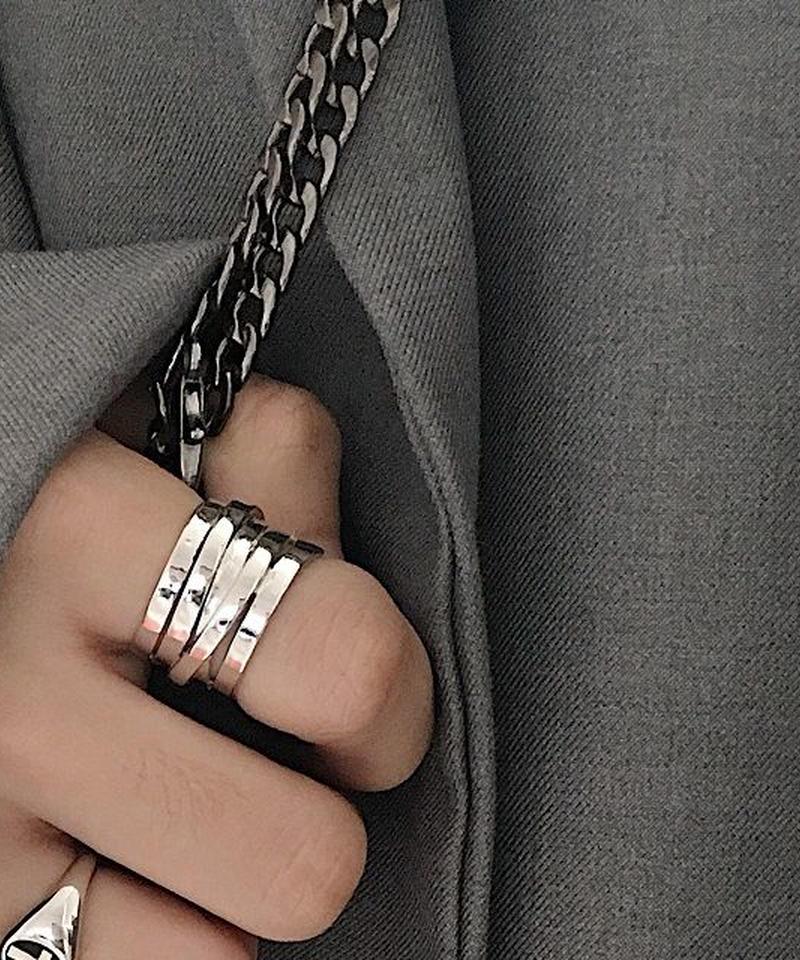 mb-ring2-02047 SV925 5連リング シルバー925