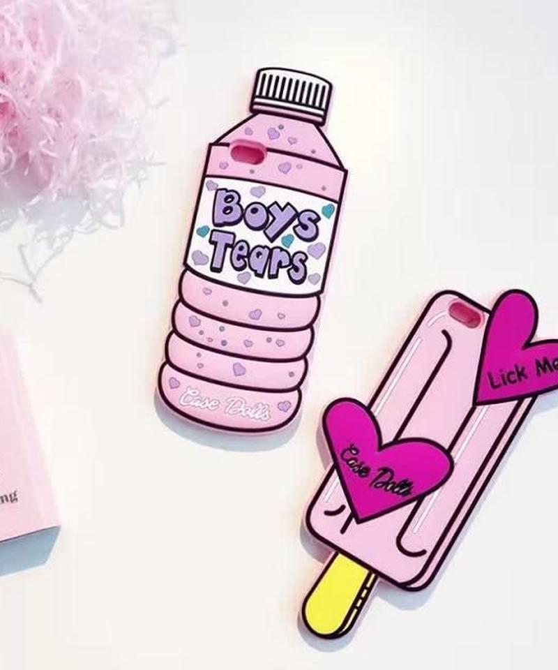 mb-iphone-02189 シリコン素材 ボトル アイスキャンディー iPhoneケース