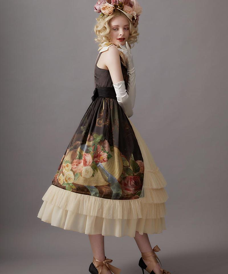 【Lサイズ】Hybrid tearose hat ジャンパースカートⅡ