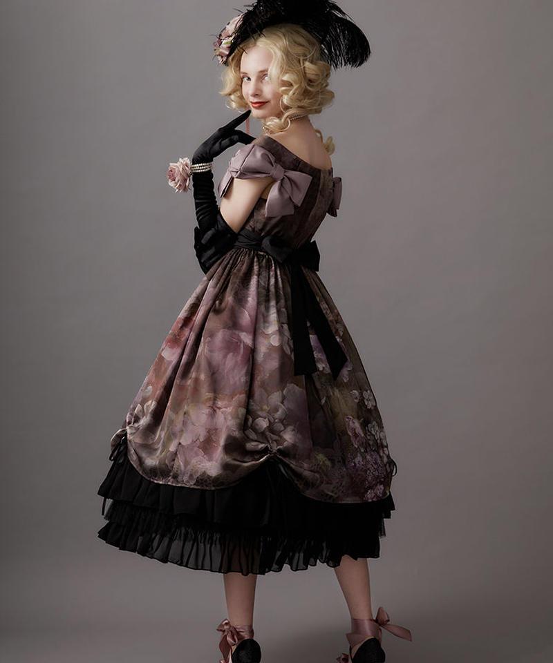 【Lサイズ】Antique bouquet ジャンパースカートⅠ
